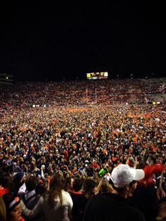 Ironbowl 2013. Auburn wins 34-28. Kellie's in the middle of that crowd somewhere!