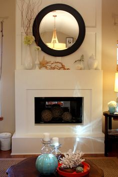 mantle inspiration. Like the tall to small in one colour...