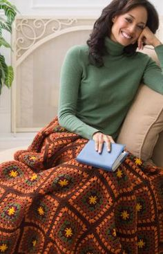 Autumn throw -- free crochet pattern ~ I am making this one right now for this fall season and I love it!!