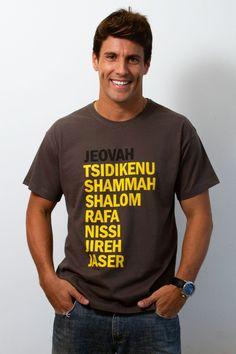 Nomes de Deus - Masculino - Camisetas cristãs