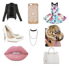 """salida de noch"" by yarlin-perez on Polyvore featuring Balmain, Jimmy Choo, MICHAEL Michael Kors and Lime Crime"