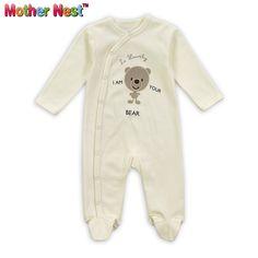 Baby Sleepwear & Robes 100% Cotton,Baby Pajamas Boys Girls,Infant Footies 0-12Moths,Cute Bear Bebe Sleepwear in Spring & Autumn