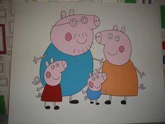 Peppy pig mural