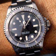 """Rolex 5513 Maxi MK 1 in perfect condition #rolex#5513#submariner#vintage#maxidial…"""