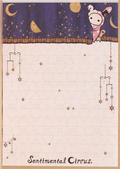 kawaii Memo Pad Sentimental Circus bunny Shappo moon Japan 5