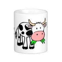 I Love Cows Cute Cow Coffee Mug