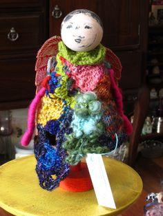 angel in freeform knitting