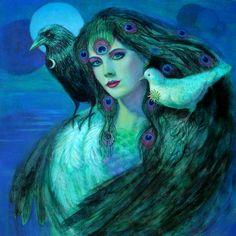 Birds of Duality - fantasy art - Sue Halstenberg