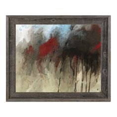 """Click Wall Art 'Black in Motion' Framed Print of Painting Size: 16"""" H x 20"""" W x 1"""" D"""
