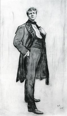 Portrait of Fiodor Ivanovich Chaliapin, 1905 by Valentin Serov (Russian, 1865 - 1911).... the great opera singer (1873-1938)