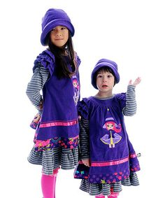 Take a look at this Purple Corduroy Princess Dress - Infant, Toddler & Girls by Servane Barrau Designs on #zulily today!