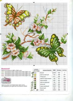 Cross Stitch World: Butterflies (2 schemes):