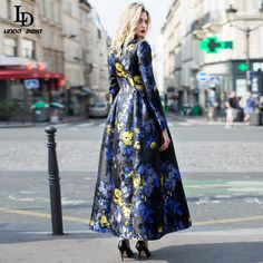 Women's Elegant Voile Bird Floral Flowes Embroidery Long Dress That`s just superb! www.sukclothes.co... #shop #beauty #Woman's fashion #Products