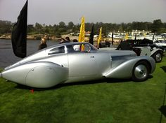 Streamlined '38 Hispano Suiza, coachwork by Saoutchik (via @AM_Lorio)