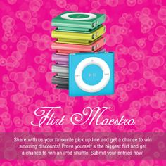 Submit your entries before February 14th, 2014 and get a chance to win a brand new iPod shuffle! Winners would be announced on February 14th.