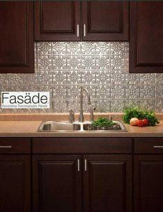 Temporary kitchen backsplash - ideal for renters