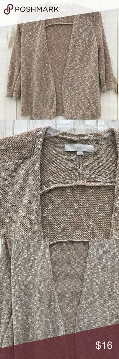 """Ann Taylor Cotton Cardigan size M An easy going Cardigan from AT that will go with many things. Note the pic with the tag shows it's color best. Pre-loved and in good shape. Shoulder to hem: 25"""", outer sleeve:  18"""", pit to pit: 19"""".  Shop smart by maximizing your shipping $. Use the filter function and peruse my closet of over 1,000 items! Bundle and save!! Ann Taylor Sweaters Cardigans"""