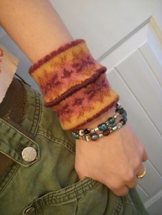 felted bracelets from old sweaters