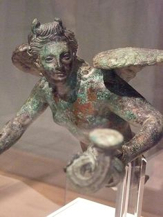 Eros Lamp Holder Greek perhaps from Asia Minor early 1st century BCE Bronze