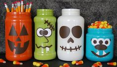 Monsterously Crazy Cute Halloween Jars!! Hello! These recycled jars are the cutest Halloween decor items you can create this year. How fun to get the kids in on this one. Recycle, Reuse and Create. Fun, and inexpensive you only need a few items to get started to create these cute Halloween jars.