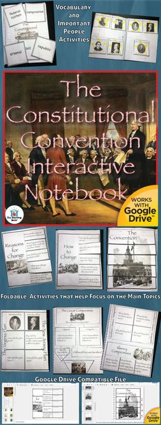 The Constitutional Convention Interactive Notebook, which works for both print and Google Drive™, investigates and helps gain understanding of why the Articles of Confederation were not working and how the Americans attempted to fix the issues at the Constitutional Convention. Geared as a unit in the 5th grade study of United States History.