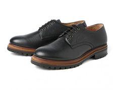 Men's Moors (Black) Grain Leather Derby Shoe | H Shoes Exclusive
