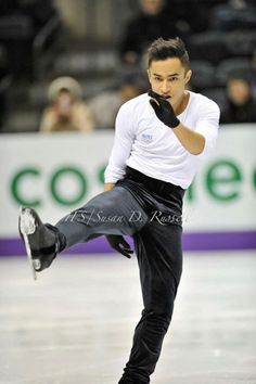 Florent Amodio(France)  Plactice : World Figure Skating Championships 2013 in London(CANADA)
