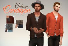Un Sims au bout du fil. - Urban Cardigan for the Sims 4. I'm not sure I will...