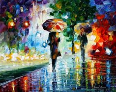 really like the colors Leonid Afremov uses.