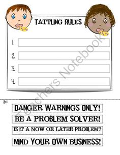 tattle rules from the teachers chatterbox on teachersnotebookcom 3 pages this
