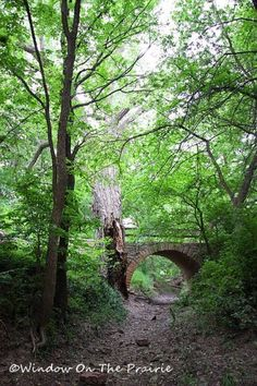 Stone Arch Bridge near Rice, Kansas  ~ this is the kind of trail that just calls my name