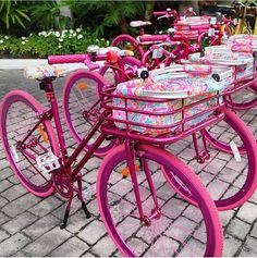 Pink bikes!