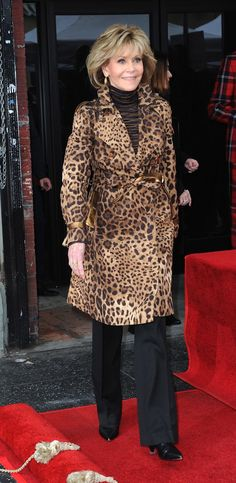 The Ultimate Style Secrets of Ageless Women: These are the women that prove age is a trivial matter, indeed.  Jane Fonda Older Women Fashion, Womens Fashion, Fur Coat, Jackets, Women's Fashion, Ladies Fashion, Jacket, Fashion Women, Feminine Fashion