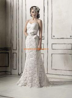 Schönste Bodenlange Hochzeitskleider aus Spitze