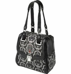 Bauhaus Bowler in Black Lotus from Petunia - $169 http://handbags.petunia.com #handbags #fashion #bowler
