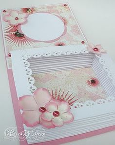 Luvn The Journey: A Luv-ly Fancy Fold . and a link to a tutorial of how to make one. Fancy Fold Cards, Folded Cards, Card Making Tutorials, Making Cards, Girl Birthday Cards, Crafts With Pictures, Card Book, Shaped Cards, Beautiful Handmade Cards