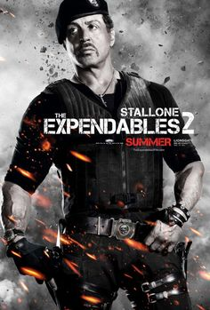 """Stallone in a poster of """"The Expendables 2"""""""