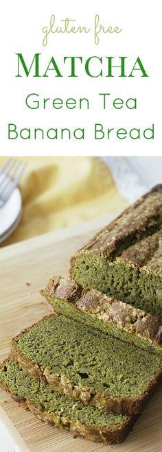 Grab ripe bananas and get ready to make this delicious gluten free matcha green tea banana bread recipe. Recipe at www.fearlessdinin... via /fearlessdining/ (Bread Recipes Easy)