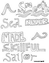 Free Printable Inspirational Quotes Coloring Pages From Doodle Art Alley