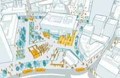 Sasaki Associates proposes a community-friendly Boston City Hall Plaza buzzing with cultural activities Landscape Architecture Design, Architecture Drawings, House Architecture, Architecture Mapping, Architecture Diagrams, City Landscape, Architecture Portfolio, Classical Architecture, Ancient Architecture