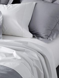 Luca Bed Linens By Matouk 20% off! Shop a classic solid white percale bed linen collection available in 5 colors!