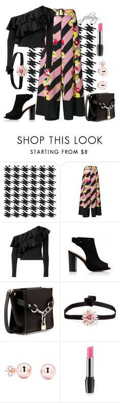 """""""Bolder Shoulder Shine"""" by jfcheney ❤ liked on Polyvore featuring York Wallcoverings, Etro, Alice + Olivia, Alexander Wang, Pori and Avon"""
