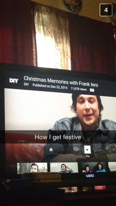 Oh yeah. Also in that video Frank tells a funny story about a bad Christmas present he got when he was a kid that he cried, haha poor Frank ❤️