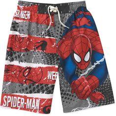 Marvel Spiderman Boys Swim Shorts