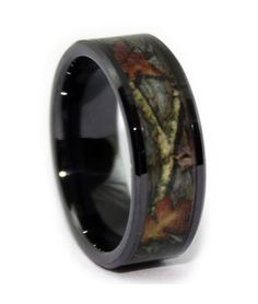 Hot Wedding Trend! Camo Wedding Bands for him and her!