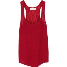 Étoile Isabel Marant Vicky ribbed linen tank ($50) ❤ liked on Polyvore featuring tops, shirts, tank tops, tanks, claret, linen shirts, relaxed fit shirt, ribbed tank tops, relax shirt and ribbed tank