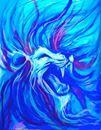 mickey june surfboard art #lion #art - Google Search