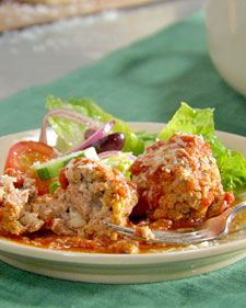 Light and Fluffy Meatballs - Creamy ricotta cheese is the secret to keeping these meatballs tender and moist.