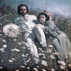 Леонид Андреев с женой Анной Денисович,1908