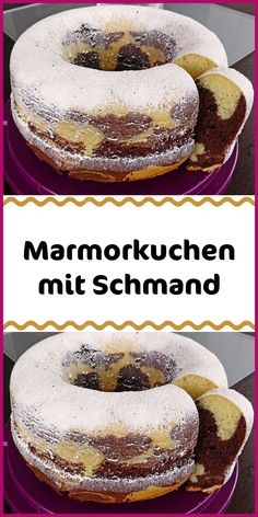 Marble cake with sour cream - Kuchen & Torten Rezepte - Ingredients 220 g sugar 1 pack vanilla sugar 4 egg (s) 150 g margarine 300 g flour 1 pack baking pow - Easy Vanilla Cake Recipe, Chocolate Cake Recipe Easy, Easy Cake Recipes, Baking Recipes, Dessert Recipes, Cookies Et Biscuits, Cake Cookies, Sour Cream Ingredients, Sour Cream Cake
